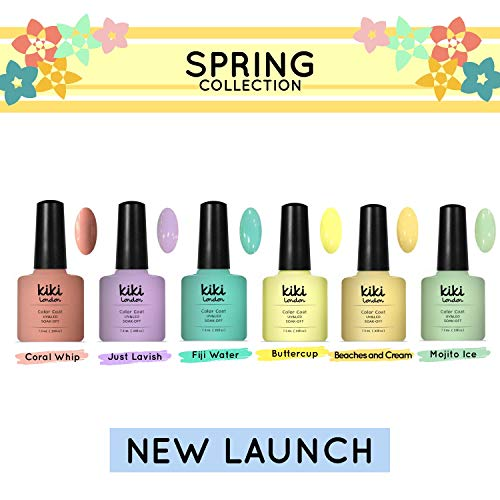 Spring Collection 2019-6er Set Pastell - Profi Gel-Nagellack UV/LED Premium Qualität Von Kiki London