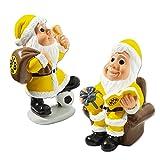Borussia Dortmund Nikolaus 2er-Set, Schwarzgelb, BVB-Emblem, Weihnachtsmänner One Size