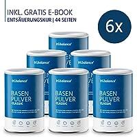 Preisvergleich für tri.balance Basenpulver Classic 300 g - 6er Pack inkl. E-Book Entsäuerungskur I Zum Säure-Basen-Ausgleich I Ideal...