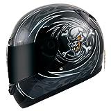 AKIRA Casque Moto Intégral Kitami, Noir/Noir, S