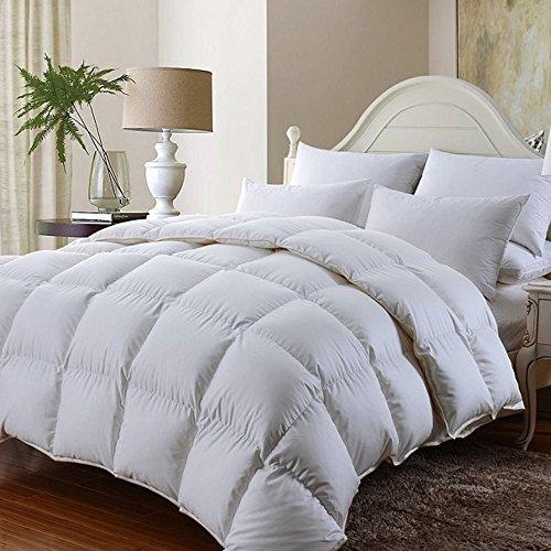 Kensington's Luxuriöse natur Bambus Bettdecke Best für alle Jahr um Gebrauch-100% Baumwolle Bezug quilt- Hotel Qualität Betten, 10,5 Tog, weiß, King Size