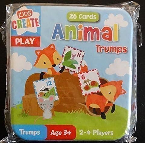 Childrens Kids Animals Snap & Trump Card Games Tiger, Monkey Giraffe etc