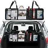 Kofferraum Organizer für Auto und SUV - 5 Multi-Fach Netz Tasche Rücksitz Aufbewahrungstasche für Organisierten Kofferraum - Platzsparende Kofferraumtasche für Werkzeuge, Sport-Artikel, Lebensmittel
