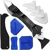 Siliconen Sealant Remover en Smoother Tool, 3 in 1 Sealant Grout Schraper Siliconen Caulking Tool Kit, 4 Stks Blauw Siliconen
