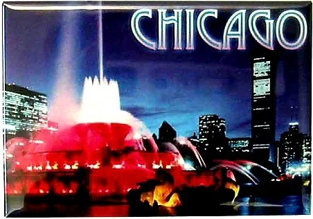 Chicago Buckingham Fountain Photo Magnet, Chicago Magnets, Chicago Souvenirs by Great Places To You