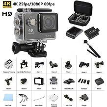 Cámara de acción Sansnail H9 Outdoor, mini, 30 metros de resistencia al agua, Ultra HD 4K, cámara de vídeo digital, cámara de acción de vídeo digital, ...