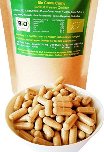 180 Bio Camu Camu vegi Kapseln 700 mg aus Peru Rohkost Qualität Regenwald Hand Auslese 100% naturrein