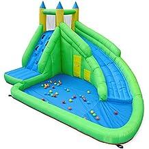 Alice's Garden - Château gonflable - Montmirail - toboggan à eau gonflable, aire de jeu pour enfants, 4m
