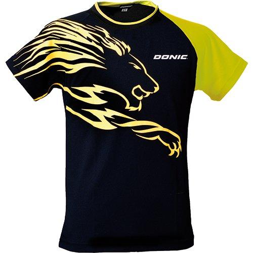 Donic T-Shirt Lion, XL, schwarz/gelb