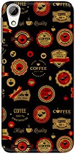 The Racoon Grip printed designer hard back mobile phone case cover for HTC Desire 626. (Black Coff)
