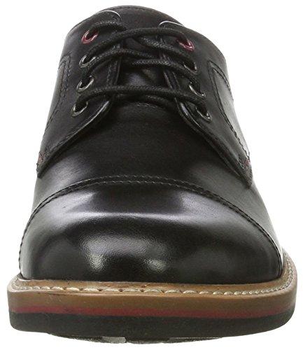 Clarks Pitney Cap, Derby Uomo Nero (Black Leather)