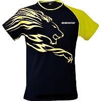 Donic camiseta camisetas León, Opciones XXS, negro/cian