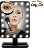 Lmeison Touch Screen 20 LED Lighted Makeup Mirror with Removable 10x Magnifying Mirrors