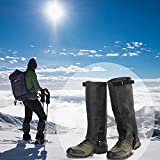 1paio ghette impermeabili per esterni Walking climbing Snow Legging ghette gamba copertura protegge da viaggio ultra leggero e antistrappo traspirante stivali custode per caccia di campeggio escursionismo arrampicata Guard, Black