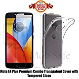 #7: Mob Safe Premium Combo of Tempered HD Glass with Transparent Back Cover For Moto E4 Plus