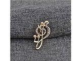 XeibD Mode Mode Neue Hinweis Brosche Hochzeit Braut Bankett Kleidung Dekorative für Frauen Geschenk (Gold)