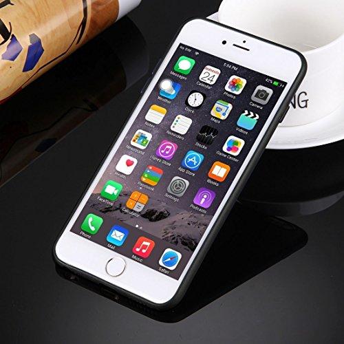 iPhone Case Cover Pour iPhone 6 Plus & 6s Plus Boîtier de protection en TPU solide sans trou rond ( Color : White ) Black