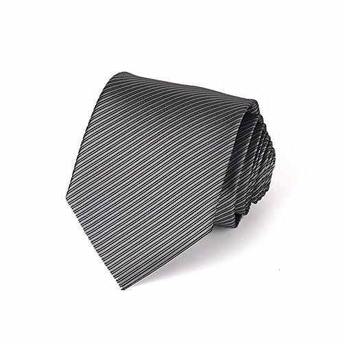 IHAOGEI Herren Fein Gestreifte Krawatte Hochzeit Classic Standard 8 Cm Extra Lange Krawatte - Verschiedene Farben, 13. Schlips