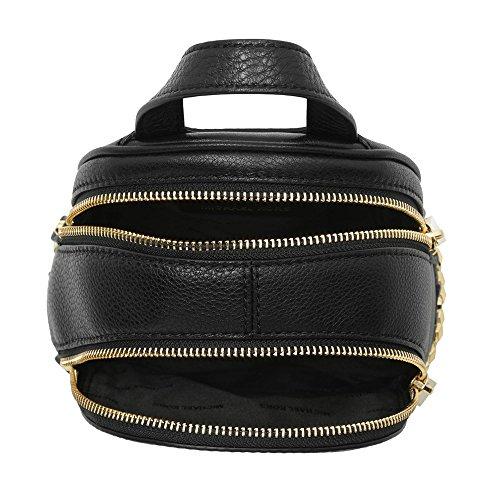 Michael Kors Rhea Zip, Sac à main à bretelles pour port en sac à dos Schwarz (Black)