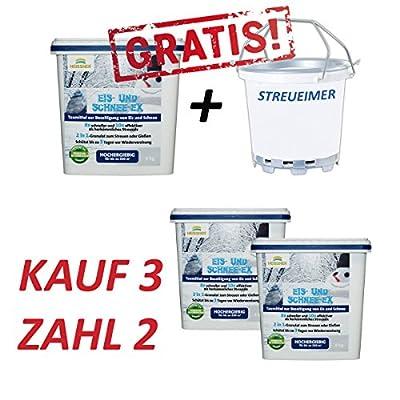 Eis- und Schnee-Ex Taumittel, 15 kg, besser als Streusalz inkl. Profi-Streueimer GRATIS