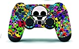 #5: Elton PS4 Controller Designer 3M Skin for Sony PlayStation 4 , PS4 Slim , Ps4 Pro DualShock Remote Wireless Controller - COLOR SKULLS , Skin for One Controller Only
