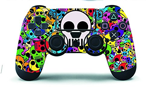 Elton PS4 Controller Designer 3M Skin for Sony PlayStation 4, PS4 Slim, Ps4 Pro DualShock Remote Wireless Controller - Multicolor, Skin for One Controller Only