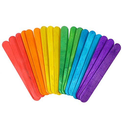 Healifty 1850 stücke Farbige Holz Handwerk Sticks Natürliche Jumbo Holz Popsicle Stick für DIY Handwerk