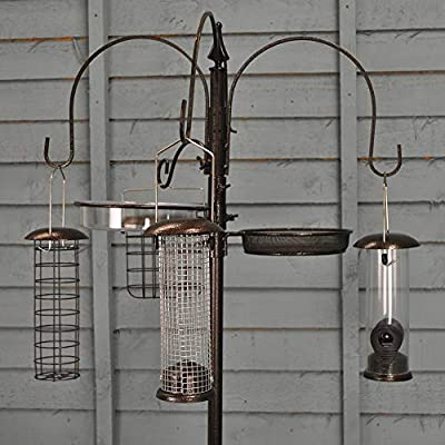 Selections Metal Complete Bird Feeding Station with 4 Feeders from Selections