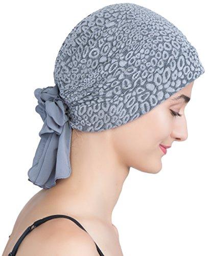Deresina Brokat Kopftuch Mit Georgette fur Haarverlust (Grau)