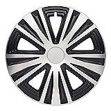 CM DESIGN 16 Zoll Glory Night Silber/Schwarz, Passend für Fast Alle Audi z.B. für A3 8P + Sportback