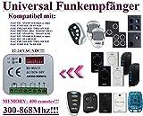 Universal Funkempfänger kompatibel mit FAAC XF433 / ELF / RP 868 SLH / RP2 LC 433 / XR2 433C / XR2 868C / XR4 433C / XR4 868C / XR4 868RC / R-XF868 / RP2 868SLH Funkempfänger. 2-befehl Rolling Fixed code 300Mhz-868Mhz 12 - 24 VAC/DC Funkempfänger.