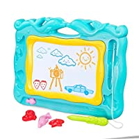 WloveTravel Magnetic Drawing Board for Kids Gifts, Erasable Writing Sketch Colorful Pad Area Educational Learning Toy for Home,Great for Age 2 3 4 + Years Old Kids