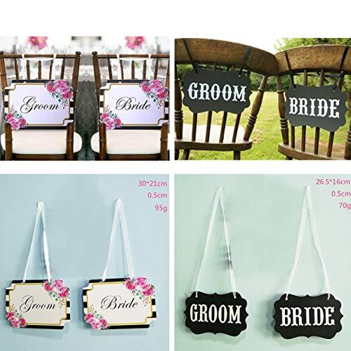 Und Mrs Kostüm White Mr - Lizhuofush Wedding Chair Back Pull Flower Shooting Props Hochzeits -Bankettdekoration Photography Props(None N/A MRS MR White Print)