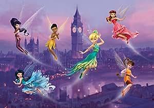 Disney Les Fées Papier Peint Photo/Poster - Fée Clochette, Noa, Vidia Et Fées À Londres (255 x 180 cm)
