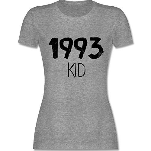 Shirtracer Geburtstag - 1993 Kid - Damen T-Shirt Rundhals Grau Meliert
