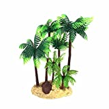 ueetek 14 cm Kunststoff Coconut Palm Tree Miniatur Pflanze Bonsai Craft Micro Landschaft DIY Decor