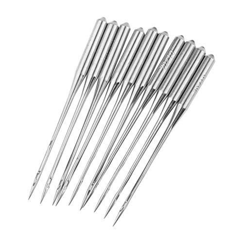 10 Pcs Industrielle und Home Overlock Nähmaschine Nadeln für Juki Brother Pegasus Nähnadeln,Size:#11