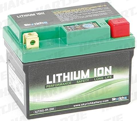Skyrich - Motorrad Batterie Lithium YTX5L-BS 12V 2Ah HJTX5