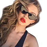 Trada Damenbrillen, Frauen Mode Katzenaugen Sonnenbrille integrierte UV Süßigkeit farbige Gläser Cat Eye Sunglasses Herrenbrillen Retro Vintage Brille Nachtsichtbrille Eyewear Travel (J)