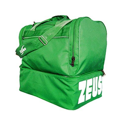 Zeus Herren Sporttasche Fußball Schultergurt Umhängetasche BORSA MAXI 52X52X36 cm (GRENADE) GRÜN