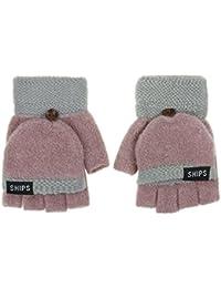 Winter Warme Frauen Handschuhe Wärmer Halbhandschuhe Mädchen Wolle Gestrickt Einfarbig Halbe Finger-handschuh Bekleidung Zubehör