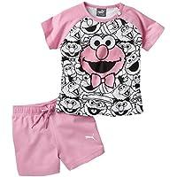 Puma Sesame Street Infant, Babyset Bambino, Prism Pink, 80