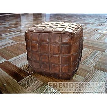 Pouf Leder sitzwürfel sitzhocker squares pouf leder s amazon de küche haushalt