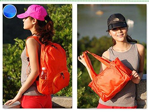 &ZHOU Männer und Frauen, Multifunktionsgeldbeutel Sports Rucksack-Handtasche Großvolumige Tasche Schultertasche faltbare Rucksack Messenger Art und Weise Kurier Orange