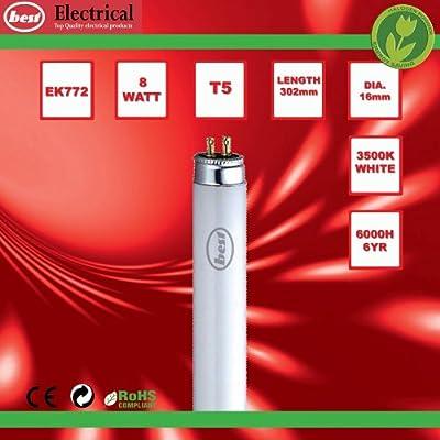 Bulk Hardware 8W T5 Leuchtstoffröhre 302 mm (2 Stück), Weiß von Bulk Hardware Ltd auf Lampenhans.de
