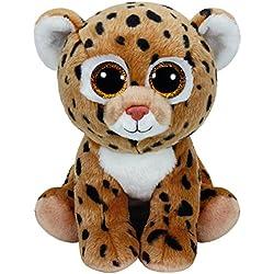 Ty - Classics Freckles, Leopardo de Peluche, 23 cm, Color Amarillo (90231TY)