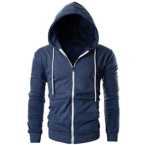 Ears Herren Lässiger Sweatshirt schlanker langärmeliger Reißverschluss Hoodie Pocket Outwear Bluse Winter Mantel Jacke Herrenmode Wollmäntel Wintermantel Coat Pullover T-Shirt Bluse