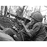 War Vietnam USA Soldiers M60 Machine Gun 1966 Photo Large