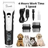 Pecute Hundeschermaschine Set Langhaar Haarschneidemaschine für Katze Hunde