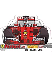 Ferrari The Racing Cars Giant Colouring Book In The Shape